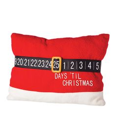 Look at this Santa Belt Countdown Pillow on #zulily today!