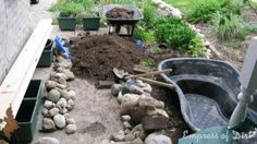 Construction of Pond In A Raised Bed