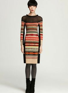 The dark bits on the side make this shape very slimming. sonia rykiel sweater.