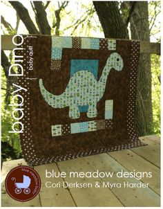 PDF Quilt Pattern  baby dino baby quilt by bluemeadowdesigns, $8.99