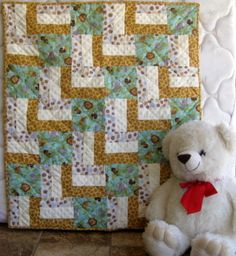 It's A Jungle Out There  - a unique handmade  baby quilt perfect for any baby shower gift