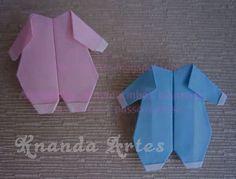 Como Fazer Macacão de Bebê em Origami
