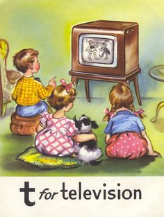 Letter T is for TELEVISION and TV;  vintage ABC page.
