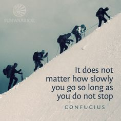 Every step you take is a step closer to your goal! #persistence #Confucius