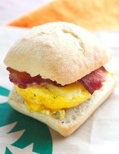 Copycat Starbucks Bacon Breakfast Sandwich