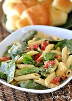 Spinach and Penne Salad
