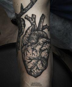 anatomical heart by dmitriy zakharov #tattoos