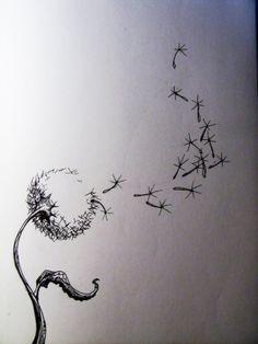 Love the idea behind dandelion drawings/tats