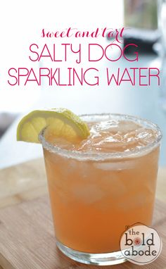 Sweet and Tart Salty Dog Sparkling Water.