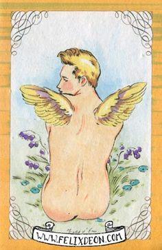 Fay Fairy 1 & 2, Male Nude Figure Drawing Fine Art Erotic gay angel