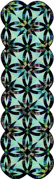 Wow, stunning paper pieced Bed Runner. LOVE these colors! Judy Niemeyer never disappoints
