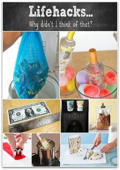 life hacking, lifee hacks, organizing tips, helpful hints, water balloons