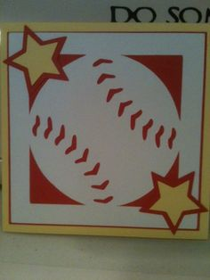 Baseball Birthday card for my son-in-law made with Cricut and Sports Mania cartridge (it is a square card)..