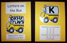 The letters on the bus