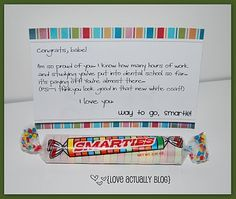 A lovely note for your special smartie with Mega Smarties enclosed!