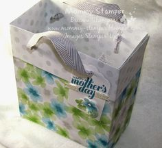 Stampin' Up! Large gift bag, Mother's Day, paper pumpkin, April, 2014, mommy stamper, brianna thompson gift bags, paper pumpkin