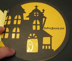Halloween Mini-Album made with Cricut Artbooking and Liquid Glass - http://DrPhilScraps.com