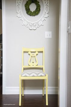 Refinishing a chair {before & after}