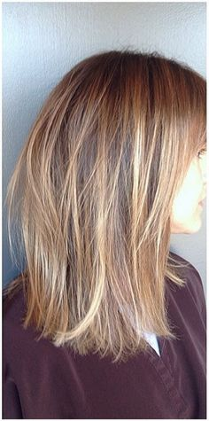 golden blonde highlights… mostly a little bit light than julies hair with a few MUCH lighter pieces… so cute