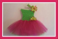 Hot pink and lime tutu dress. www.facebook.com/pages/Natalies-Tutique/540713519315118