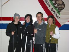 Gabrielle, Beverly, Jodee, and Karen win the MOPAC Play-downs and advance to Club Nationals - California Women's Club Nationals Curling Team, 2007