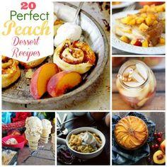 Its still peach season! 20 Perfect Peach Dessert Recipes #dessert #recipe #food #recipes #delicious
