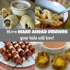 More Kid Friendly Dinner Ideas www.5dinners1hour.com  #makeaheadmeals #mealplanning #kidfriendly