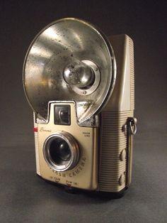 1950's White Kodak Brownie Starflash Camera