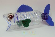 Fish made from a plastic bottle  #plastic #reuse http://www.grcltd.org/scrapstore/