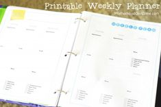 30-Day Home Management Binder Challenge:  Printable Weekly Planner