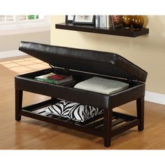 Furniture of America Espresso Finish Bicast Storage Bench | Overstock.com Shopping - Great Deals on Furniture of America Ottomans