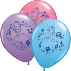 Sofia the First Party Supplies, Sofia the First Latex Balloons
