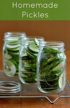 pickles (uses honey instead of sugar)