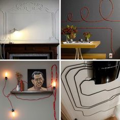 Use your cords as wall art -- so cool!