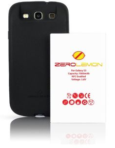 [180 days warranty] ZeroLemon Samsung Galaxy S III 7000mAh Extended Battery + Free Black Extended TPU Full Edge... - Listing price: $69.99 Now: $39.99