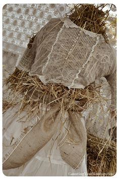Our Lacy Scarecrow for the NaDa Farm Barn Sale barn sale, scarecrow, the farm