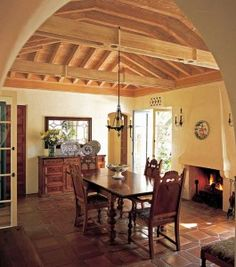 Colonial Spanish dining room