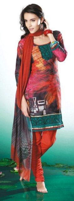 Casual Printed Shalwar Kameez Collection 2012 For Summer 006