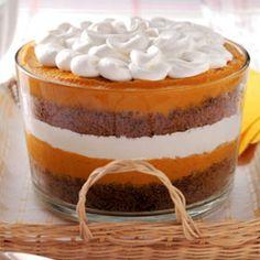 Pumpkin Gingerbread Trifle