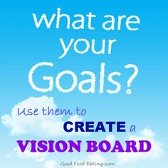 Use your goals to create a vision board. Here's some ideas on how to do it.