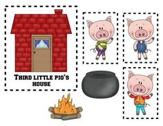 Three little pigs characters printable - photo#16