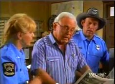 "Dee and Parker reading the ""Sparta Herald"" with the Chief in Child's Play, episode one of season seven, the last episode when the Chief hold's the office of Chief."