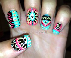 45 Tribal Aztec Nail Designs photo Callina Marie's photos