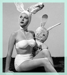 happi easter, vintag costum, easter bunni, hot babe