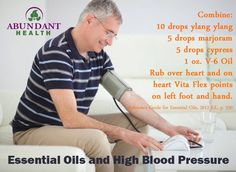 fighting high blood pressure with essential oils (v-6 oil: Fractionated Coconut Oil,  Sesame Seed Oil, Grape Seed Oil, Sweet Almond Oil, Wheat Germ Oil, Sunflower Seed Oil, and Olive Fruit Oil)