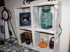 Recycled Wine Crate shelf...