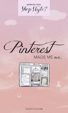 Pinterest made me do it! #weshopstyle