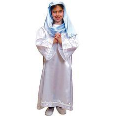 Disfraz de Virgen Niña #infantil #disfraces #carnaval