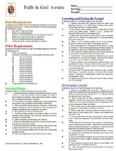 Faith in God PRINTABLE Tracking Work Sheet Primary