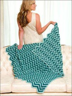 Reversible Ripple Afghans Crochet Pattern EASY New Book